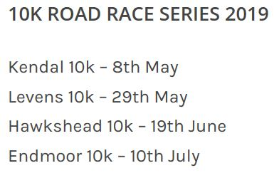 Kendal AAC Mid-week 10K series 2019