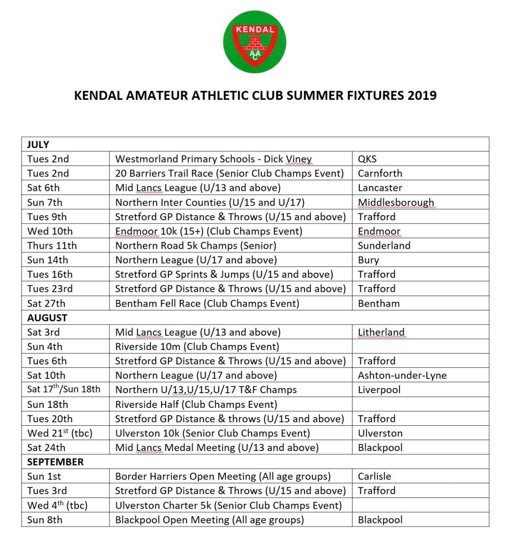 KAAC Summer Fixtures p2